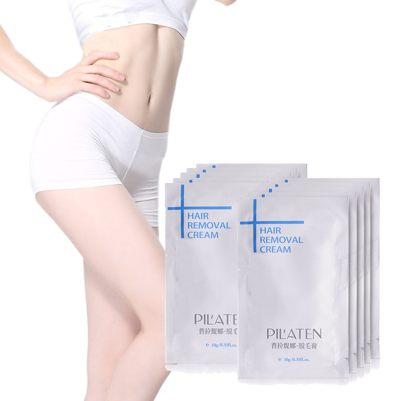 50pcs/Lot New arrival PILATENA Hair Removar Cream Painless Depilatory Cream For Leg/Armpit/Body 10g Hair Removal Cream 14
