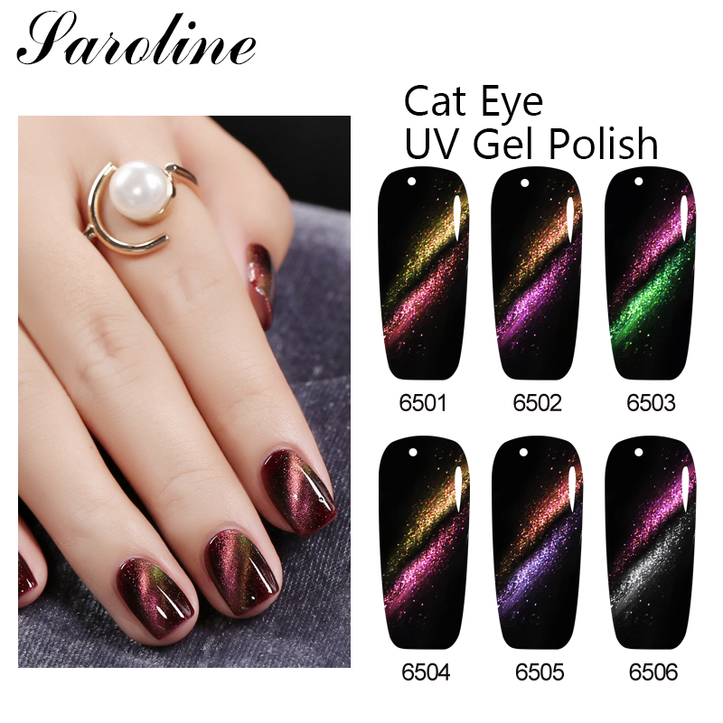 Nail Art Magnet Cat Eyes Gel Nail Polish Soak Off 7ML UV Vernis Magnetic Gel Lacquer Free DIY Magnetic Double Cat Nail Nail Glue