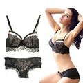 Sexy Large Size Lace Push Up Bra Set B C Cups Sujetador Encaje Women's Underwear Lingerie Sexy Panties And Bra Sets Intimates