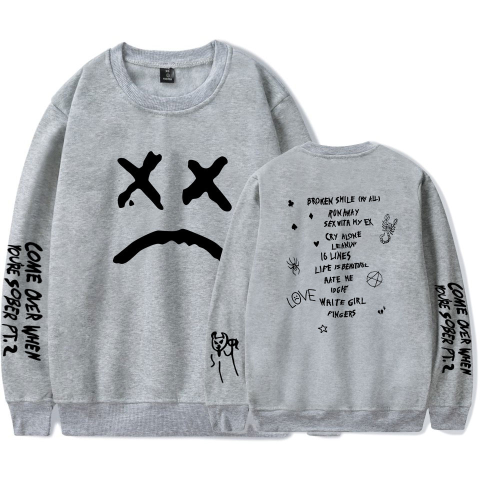 Lil Peep HELLBOY 2019 Hot O-Neck Sweatshirts Men Fashion Long Harajuku Round Neck Sweatshirt Hip Hop Streetwear Clothes