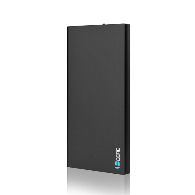 Черный Ультра-тонкий Power Bank 12000 мАч Внешний Блок Батарей 12000 мАч для мобильного телефона Универсальное зарядное устройство резервного питания