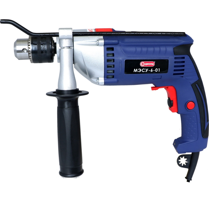 Impact drill Diold МЭСУ-6-01 (Power 900 W, speed adjustment, reverse) electric drill screwdriver diold эш 0 56 2 power 560 w 2 speed reverse