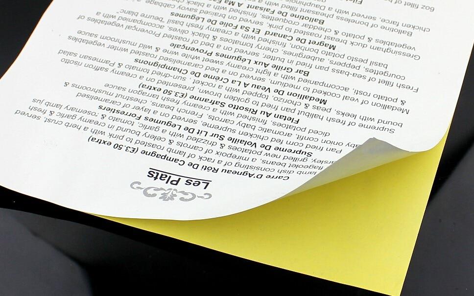 A4 210mm X 297mm Matt White Self Adhesive Easy Peeling Printable Sticker Paper For Inkjet Printer 3 To 90 Sheets