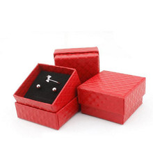 Jewery Organizer Box Rings/Earrings Storage Small Gift Box DIY craft Display Case Package Wedding/etc Sponge Diamond Patternn wh(China)