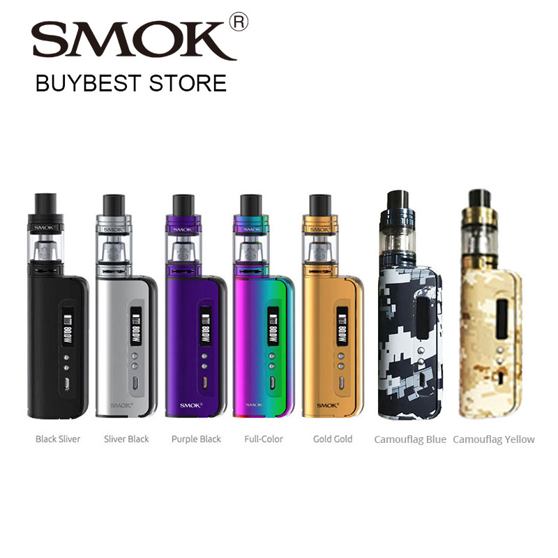 80W SMOK OSUB Baby TC Starter Kit with TFV8 Baby Beast Tank 2ml EU/3ml Atomizer & OSUB 80W Baby Box MOD E-Cigarettes Vape Kit hat prince flower pattern flip open pu case w stand card slots auto sleep for ipad air 2