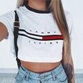 2016 Moda Lady Womens Tops Pullover Solta Camiseta de Manga Curta Tops Camisa Nova Moda de Verão de Algodão Branco de Alta Qualidade