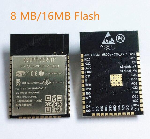ESP32 WROOM 32D 8 MB/16 MB pamięci Flash wi fi + BT + BLE ESP32 moduł Espressif oryginalny lepszy wydajność RF