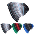 KLV Многослойные Полосой Столкновения Цвет Шерсти Шляпы Громоздкая Зимняя Шапка Вязаная Шапка