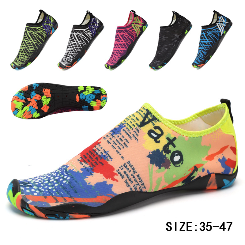 2019 Men Woman Beach Summer Outdoor Wading Shoes Swimming Slipper On Surf Quick-Drying Aqua Shoes Skin Sock Striped Water Shoes
