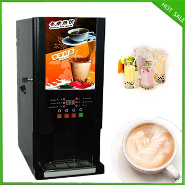 Free Shipping 3 Kinds Drinks Hot And Cold Coffee Drinkings Bubble Tea Instant Vending