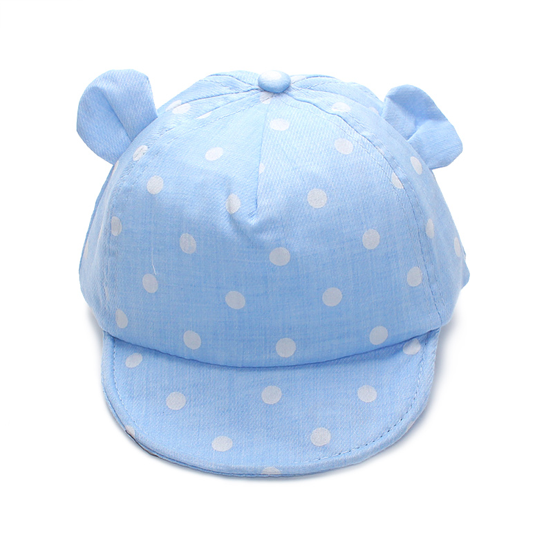 Dot Baby Caps New Girl Boys Cap Summer Hats For Boy Infant Sun Hat With Ear 2017 Sunscreen Baby Girl Hat Spring Baby Accessories (1)