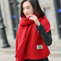 Female Korean long winter scarf knitted scarf woman student thickened autumn and winter warm wool scarf