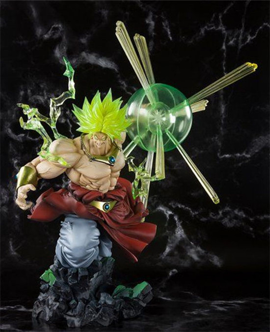 Anime Dragon Ball Z Super Saiyan Broly The Burnning Battles Ver. Action Figure Collection Model Toys 32cm
