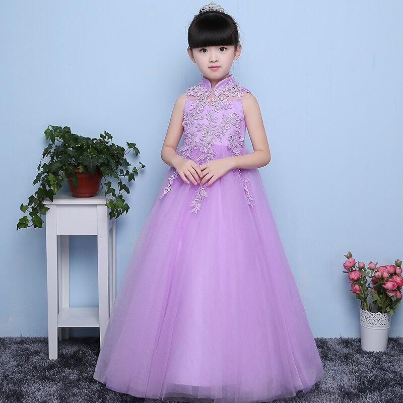 European Dreaming Purple Color Girls Princess Dress designer ...