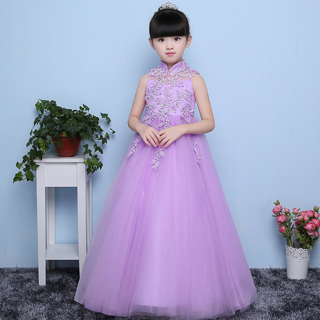 European Dreaming Purple Color Girls Princess Dress designer ...