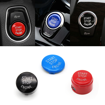 1pc Engine Start Stop Switch Button Replace Cover For BMW 1 3 5 7 F10 F25 F15 F25 F30 F48 E60 E70 E71 E90 E92 E93 X1 X3 X4 X5 X6 image