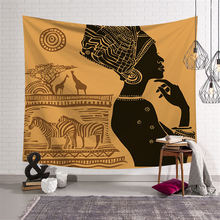 Nodic Woman Life Print Large Tapestry Hippie Throw Rug Blanket Wall Hanging Bohemian Sleeping Pad Yoga Beach Mat Home Decor