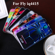 Soft TPU Phone Cases For Fly IQ4415 4.5 inch IQ 4415 quad Era Style 3 4.5 Phone covers shell Bags Housing high quality
