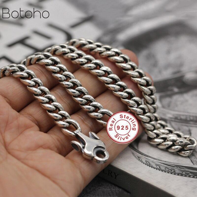 9mm de large solide 100% pur 925 en argent Sterling chaînes colliers pour hommes femmes en argent Sterling collier accessoires environ 158.58g