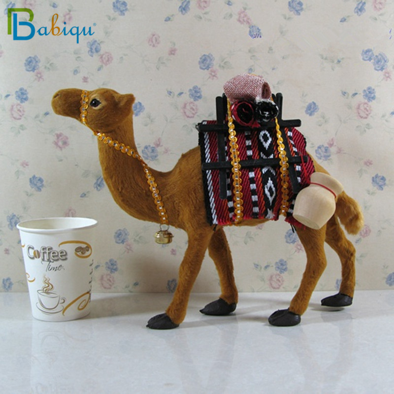 Babiqu 1pc Simulation Animal Toy Plush Stuffed Camel Doll Home Decoration Props Ornaments Gifts Collectible Boys Girls Gifts
