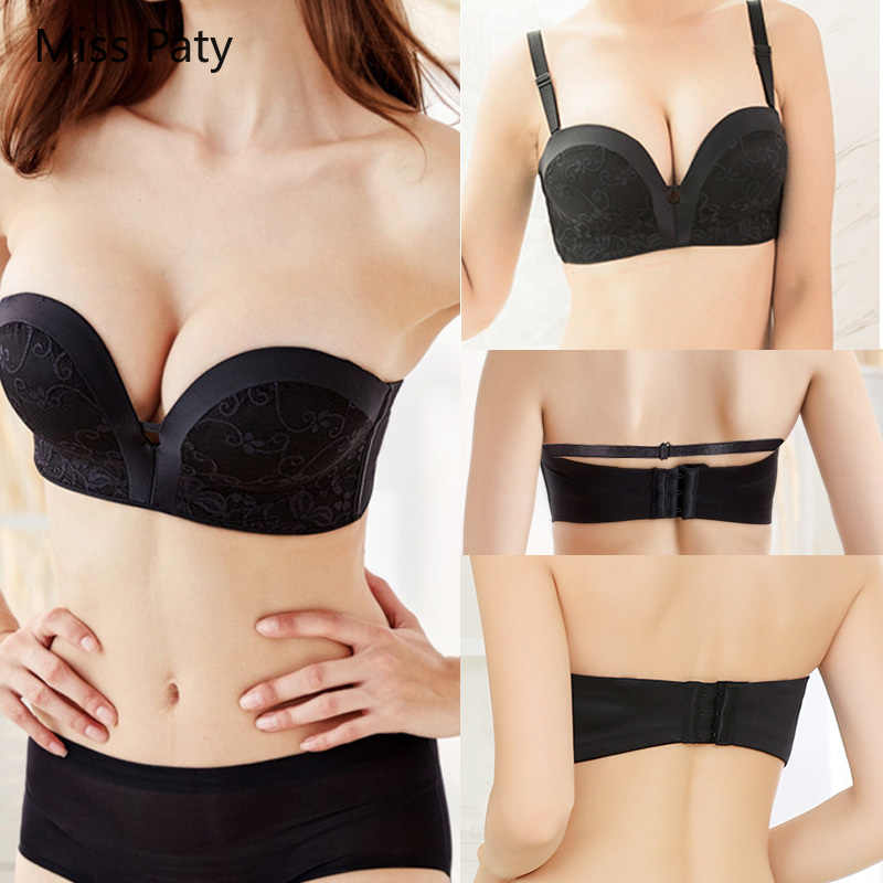 8c862ecb8fc56 2019 NEW strapless bra sexy lace top bras for women Wedding Dress Body push  up bra