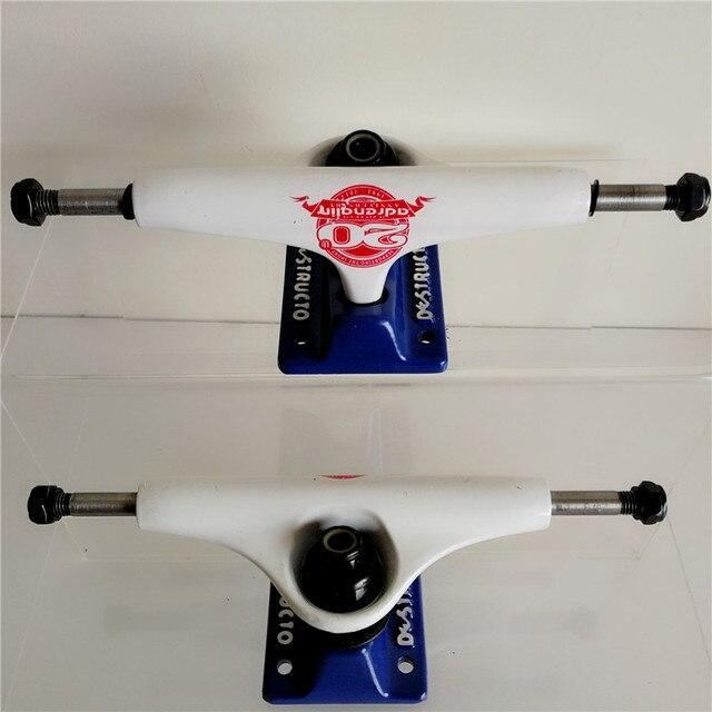 "Pro THEEVE CSX Destructo Pro Skate board Trucks Skateboarding Trucks de Skate with Dark/Silver/White color  5.25"" Inch"