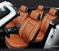 Para mitsubishi pajero outlander lancer galant carro preto de couro macio tampa de assento dianteiro e traseiro conjunto de tampa à prova d' água para o carro assento