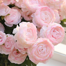 3Heads Artificial Peony Flower 6Color European Simulation for Wedding Celebration Home Party Table Decoration Fake Flowers