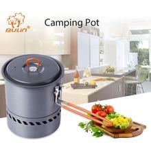 BuLin Camping Pot Outdoor Quick Multitool Tableware Pot Pan Lightweight Hiking Picnic Backpacking Tableware Camping Pot Pan