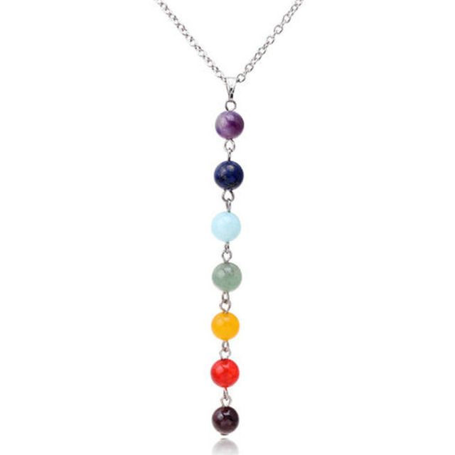 7 chakra gem stone beads pendant necklace women yoga reiki healing 7 chakra gem stone beads pendant necklace women yoga reiki healing balancing necklaces charms jewelry best mozeypictures Image collections