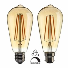Dimmable Vintage Edison LED Light Bulb E27 B22 ST64 4W Cage Retro Filament LED Light Lamp Bulb 220V Warm White LED Ligthing