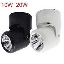 10 Вт 20 Вт супер яркий Точечный светильник с поворотом на 360 градусов Потолочный светильник Светодиодный точечный светильник AC85-265V монтируемый на поверхности светодиодный светильник s