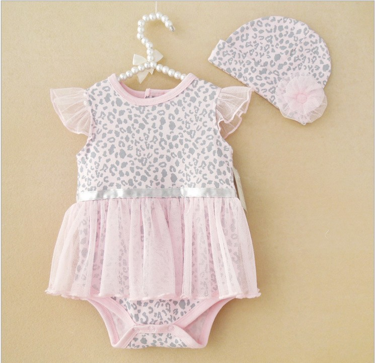 1pcs baby rompers lace girls Dress Clothes Newborn Baby ...