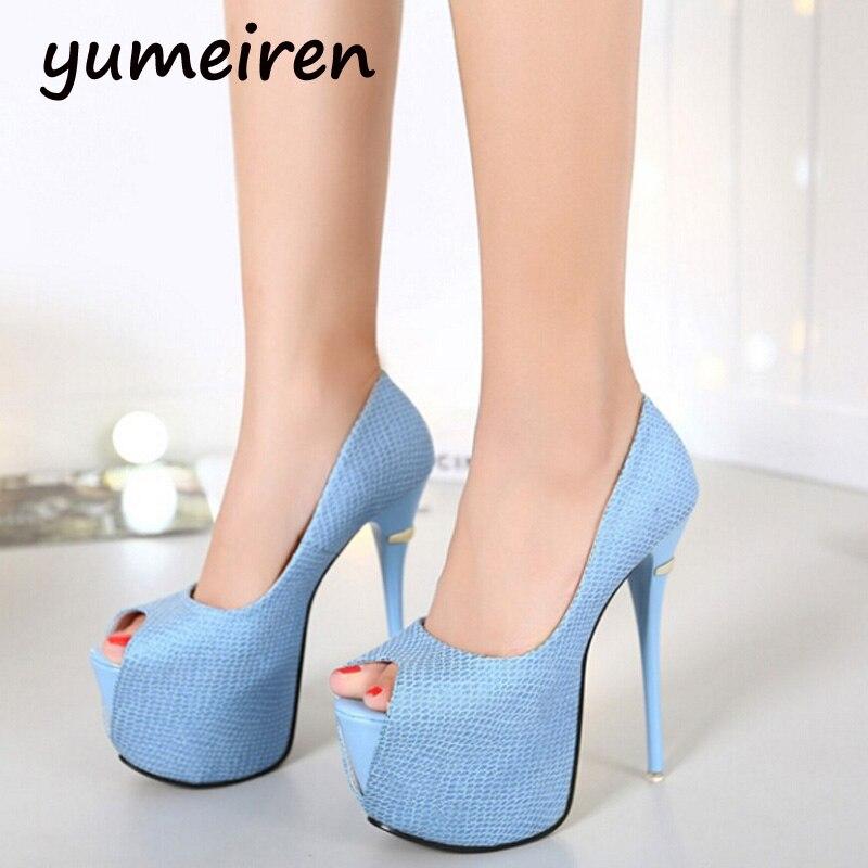 Cheap Sale Buy Online · bridal shoes womens heels Platform pumps open toe High  Heels shoes ladies blue pink heels Party f3ada2974f7c