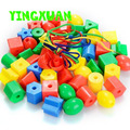 HAPPYXUAN 75pcs/pack Kids Plastic Beaded Threading Blocks Educational Building Blocks Kits Sets for kid's Creativity