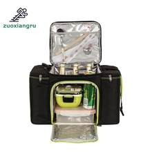 Zuoxiangru Outdoor Picnic Bag Ice Pack and Coole Insulation Bag Cooler Food Basket Storage Bag Multifunction Picnic Bags(China)