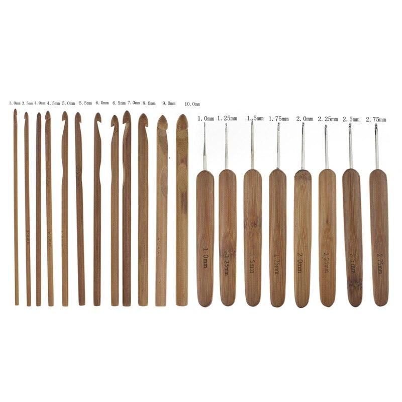 KOKNIT-20pcs-Set-Bamboo-Crochet-Needles-Set-Sweater-Knitting-Needle-Crochet-DIY-Handmade-Craft-Tools (2)