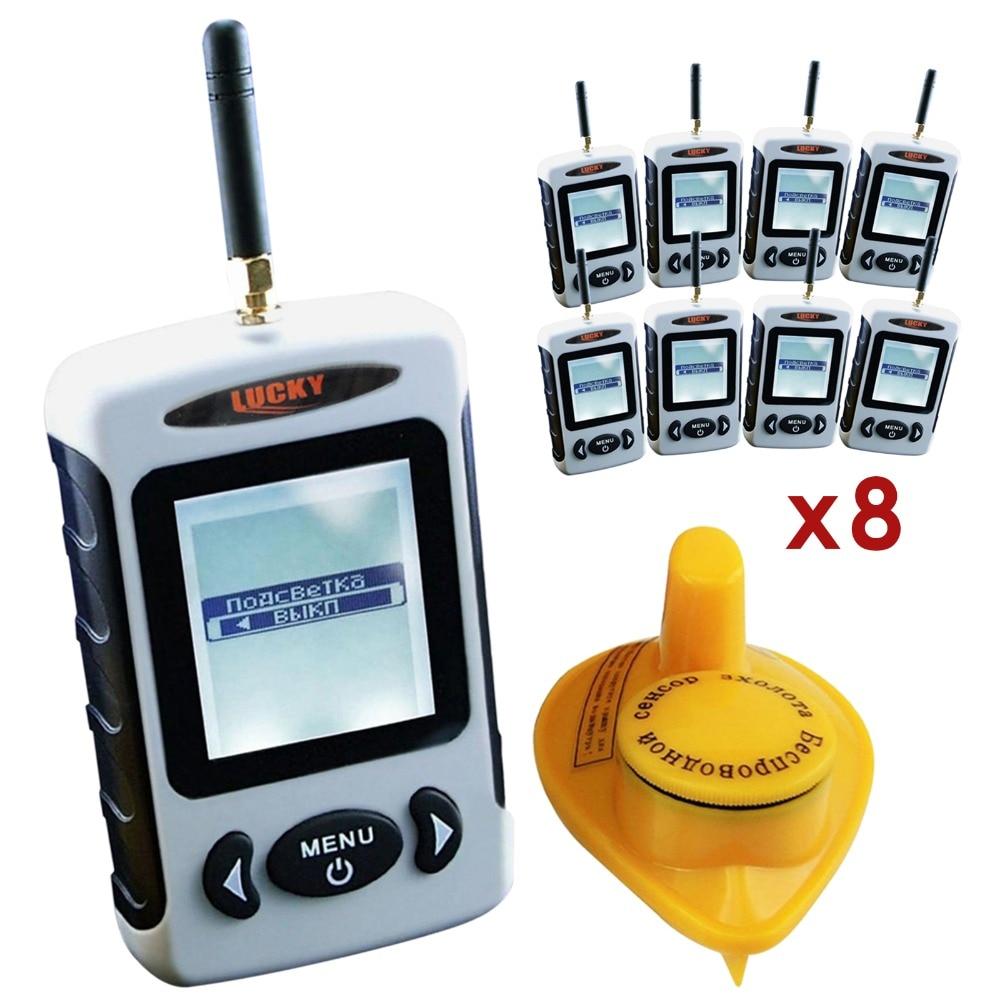 8 pieces x FFW-718 LUCKY Russian Menu 45 meters Wireless Sonar Sensor River Lake Sea Live Update Contour Fish Finder lot 8 menu чаша black contour
