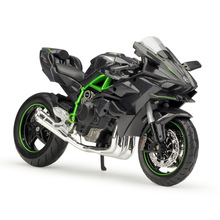 Maisto 1:12 가와사키 닌자 h2r h2 r 1:12 스케일 오토바이 다이 캐스트 금속 자전거 미니어처 레이스 장난감 선물 컬렉션