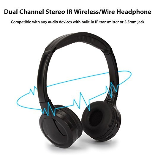 IR Infrared Wireless headphone Stereo Foldable Car Headset Earphone Indoor Outdoor Music Headphones TV headphone 2 headphones 18