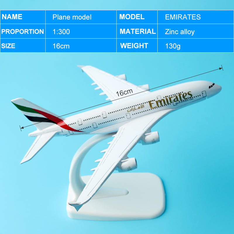 Emirates Airways Airplane Airline 777 16cm Alloy Metal Aeroplane Models Plane Aircraft Models Stand Toy Gift Boeing 777 B777