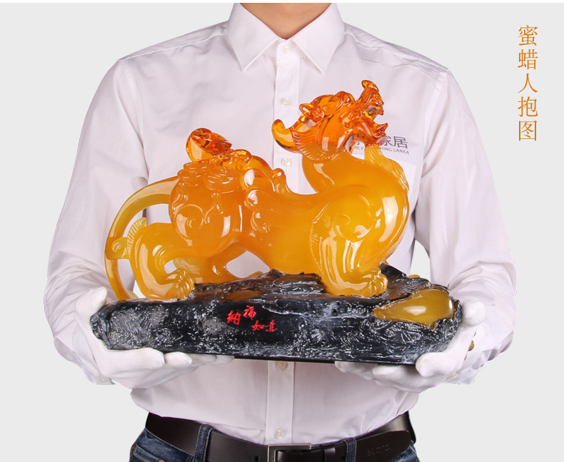 36cm LARGE # 2019 office home efficacious FENG SHUI Talisman Protection Money Drawing PI XIU amber color Sculpture ART statue36cm LARGE # 2019 office home efficacious FENG SHUI Talisman Protection Money Drawing PI XIU amber color Sculpture ART statue