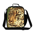 Dispalang 3D Animal Print Lunch Bags For Kids Tiger Heads Insulated Cooler Bag Children Picnic Lunch Box Bento Food Bag