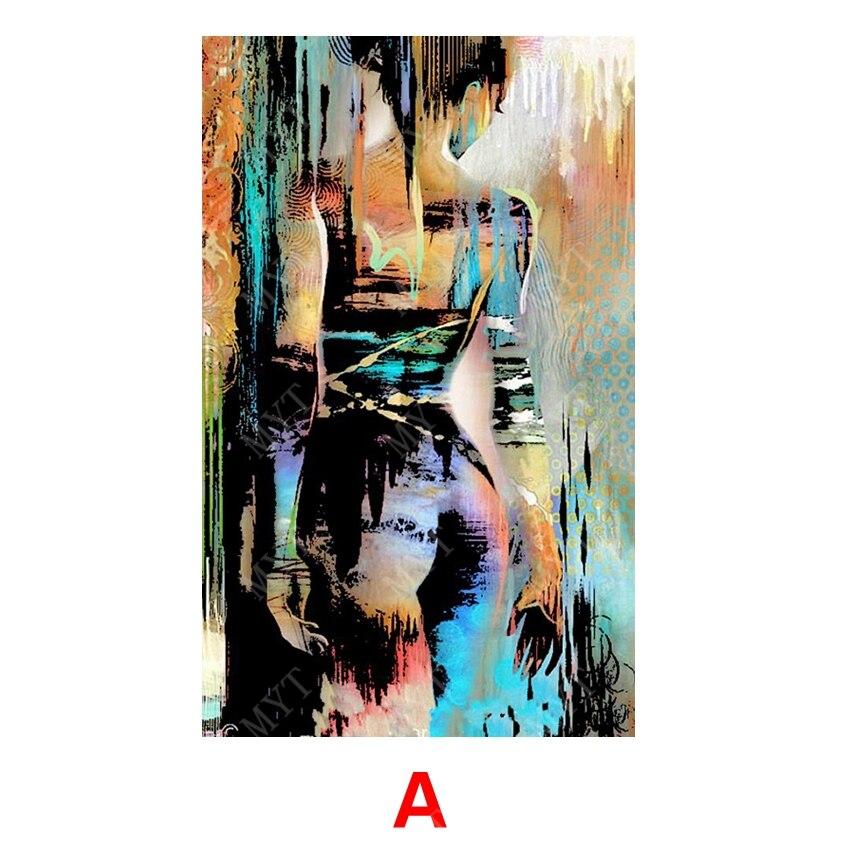 Neue Design Moderne Abstrakte Frauen Zurück Wohnzimmer Wandbilder Große Leinwand Wandkunst Aktmalerei Heißer Verkauf Kein Gestaltet