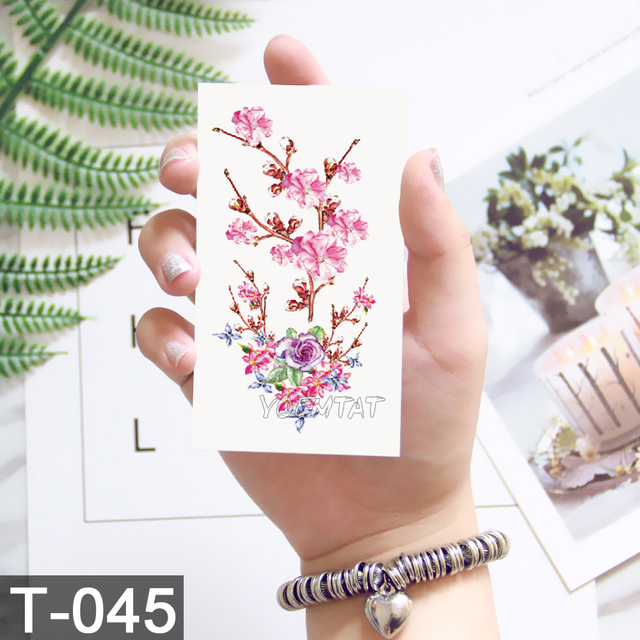 10.5x6cm Flowers rose lotus Design Fashion Temporary Tattoo Stickers Temporary Body Art Waterproof Tattoo Pattern Wholesales 5