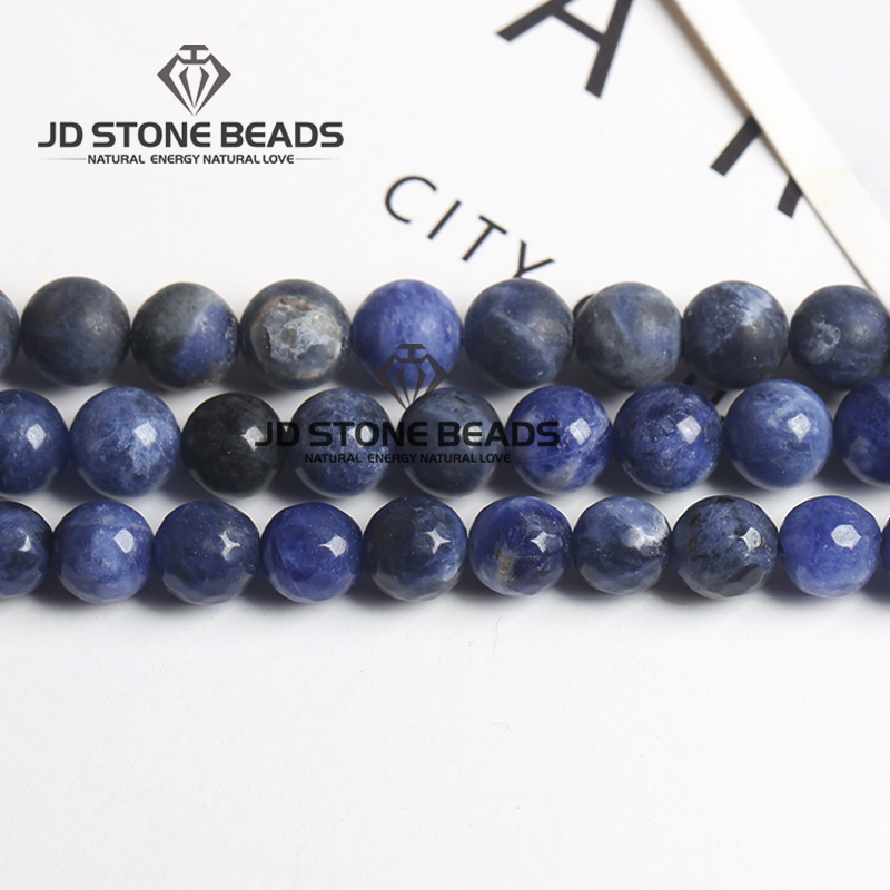 High Quality Natural Sodalite  Beads Matte Blue Stone Faceted Gemstone Beads For Bracelet Necklace Making Accessories Jewelry