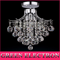 Crystal Chandelier With 3 Lights Mini Style Flush Mount Ceiling Light Fixture For Dining Room Bedroom