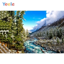 Yeele Landscape Mountain Forest Sky Cloud Decor Photography Backdrops Personalized Photographic Backgrounds For Photo Studio