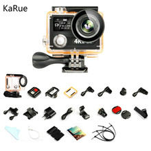 karue Ultra HD 4K WIFI Action Camera 1080p/60fps 720P/120FPS VR360 Mini Cam Waterproof Helmet Sport DVR + Option case