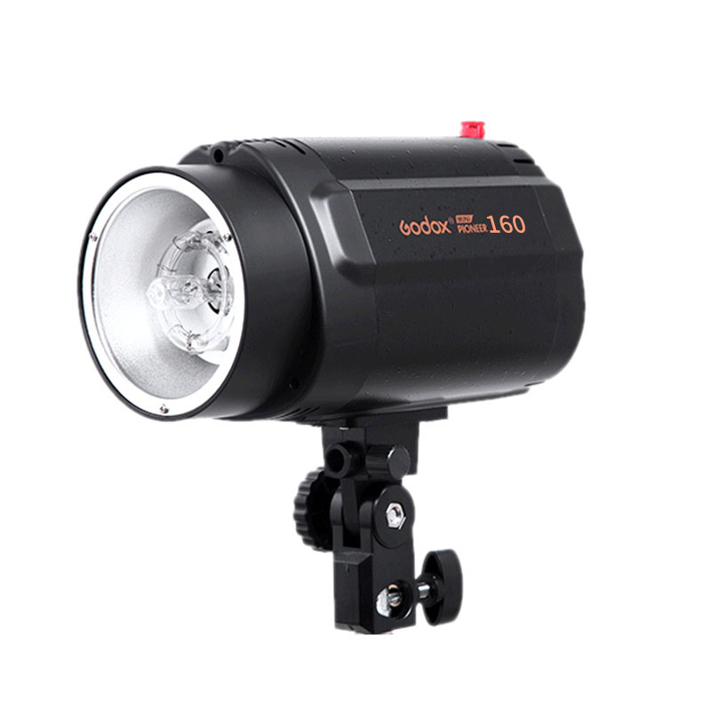 GODOX 160WS 160W Pro Photography Lighting Lamp Head Photo Studio Flash Speedlite Light Strobe 220v/110v godox mini studio flash strobe 160 max power 160ws universal digital mount gn43 recharging time 0 5 2s for photo accessories